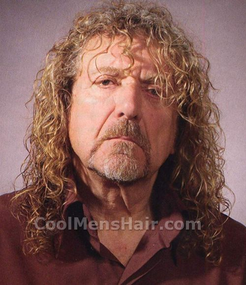 Image of Robert Plant long hair with bangs.