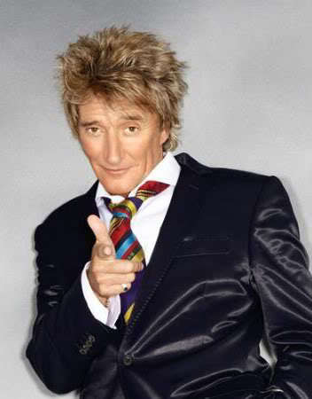 Rod Stewart rock star hairstyle