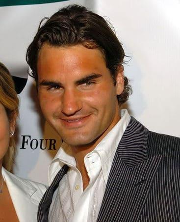 Picture of Roger Federer hair.