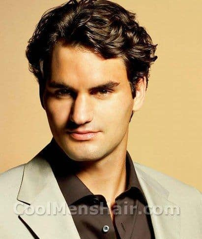 Picture of Roger Federer hairstyle.