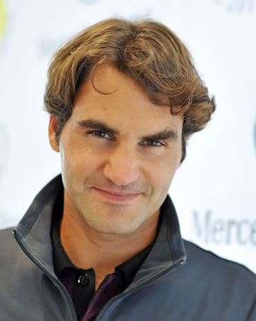 Image of Roger Federer hairstyle.