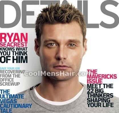 Picture of Ryan Seacrest spiky hair for young men.