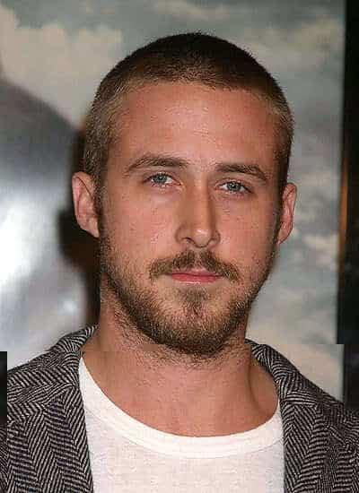 Ryan Gosling buzz cut style
