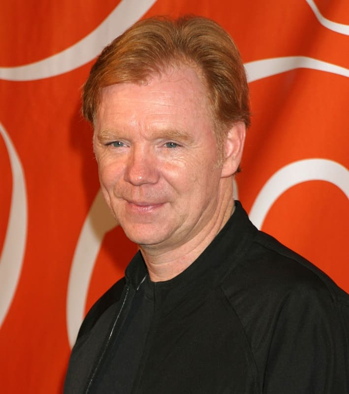 senior actor with red hair - David Caruso