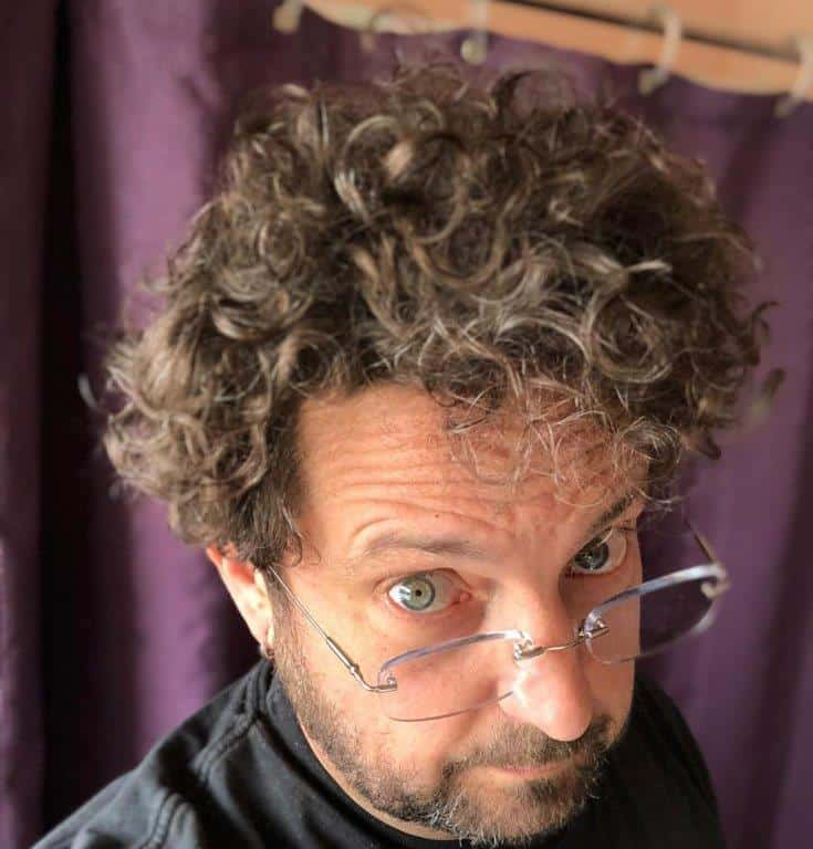Messy Curly Shag Haircut