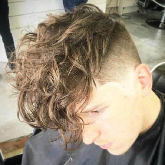 Curly shag undercut