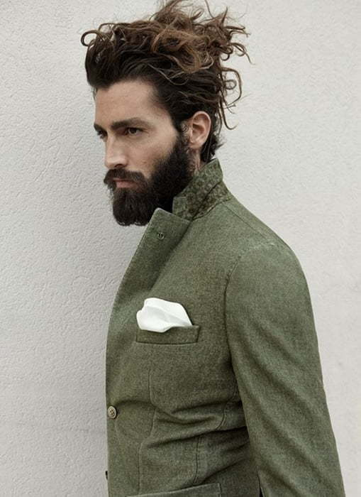 shaggy updos for men