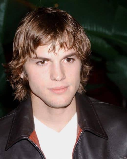 Shag haircut from Ashton Kutcher