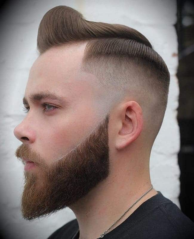 short quiff with shaved sides hairstyles for men,