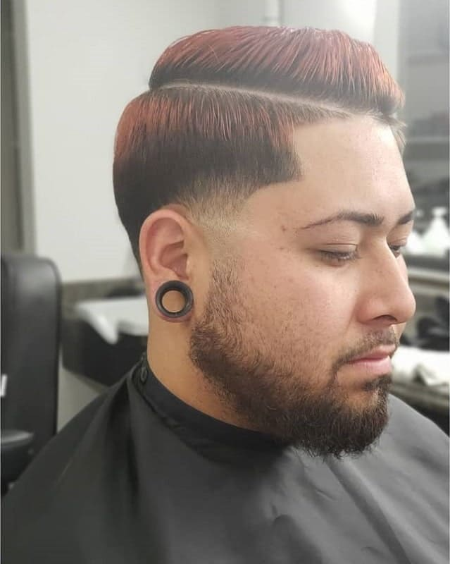 short comb over with red hair