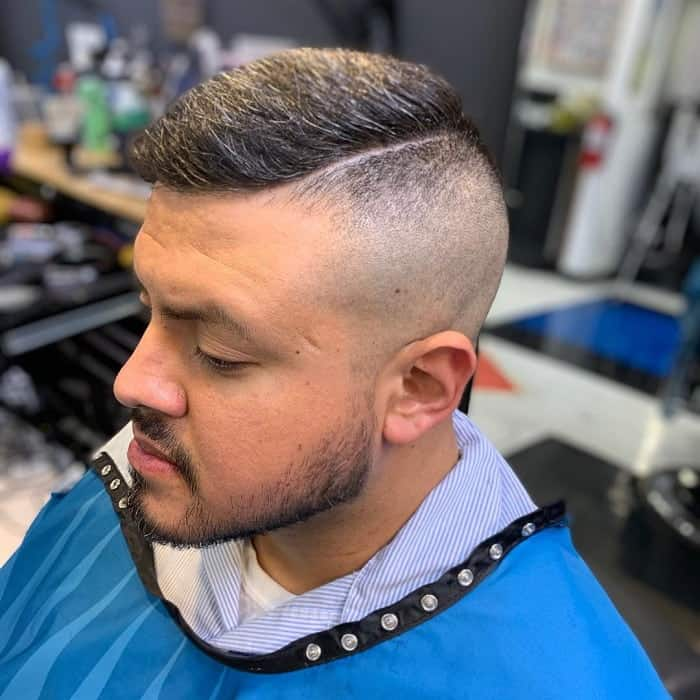 short comb over fade for thick hair