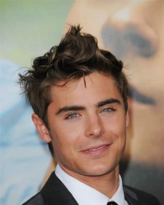 zac efron's short curly hairstyles