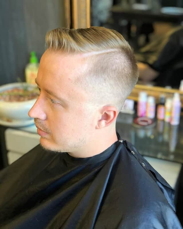 men's short fade haircuts with hard line
