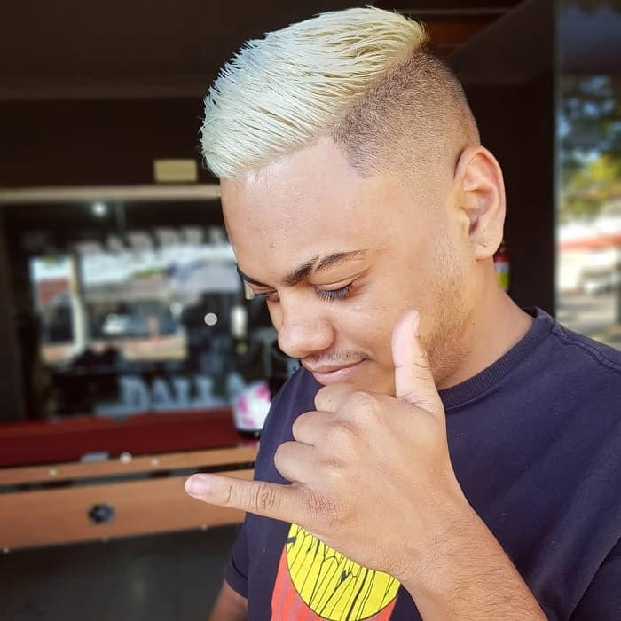 short blonde haircuts with fade for men