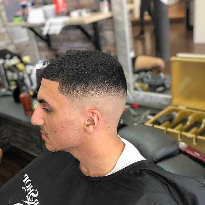 men's short afro hair with skin fade