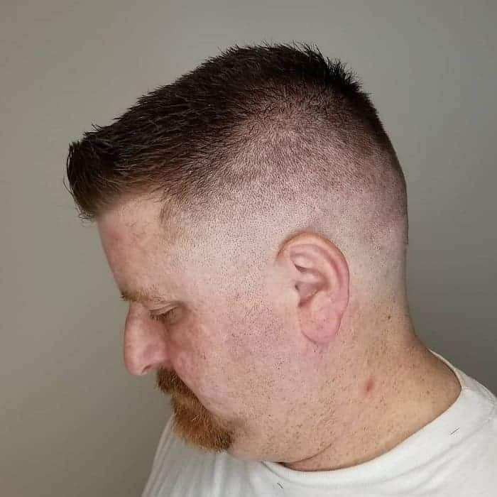 short fade hairstyles for men with mustache
