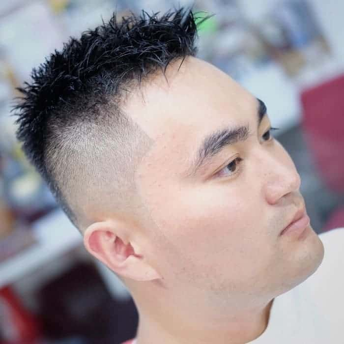 short fade hair with volume on top