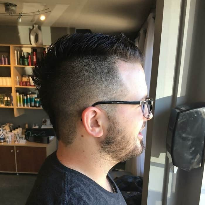 short faux hawk hair with spikes