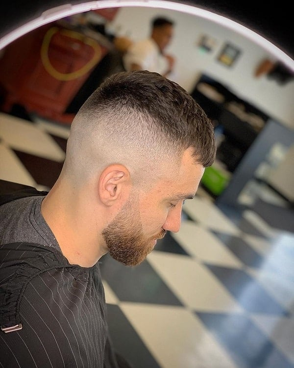 short french crop with high bald fade