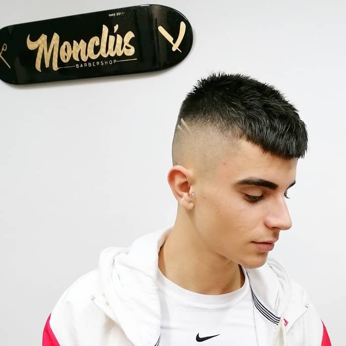 Short French Crop with High Skin Fade