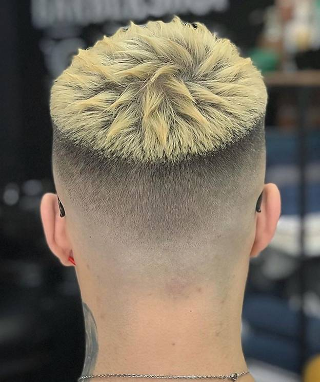 Short Hair with A Blonde Spiky Top