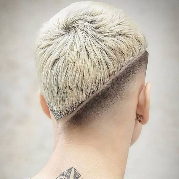 short blonde hairstyle for men