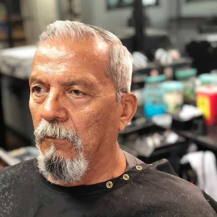 older man with short hair