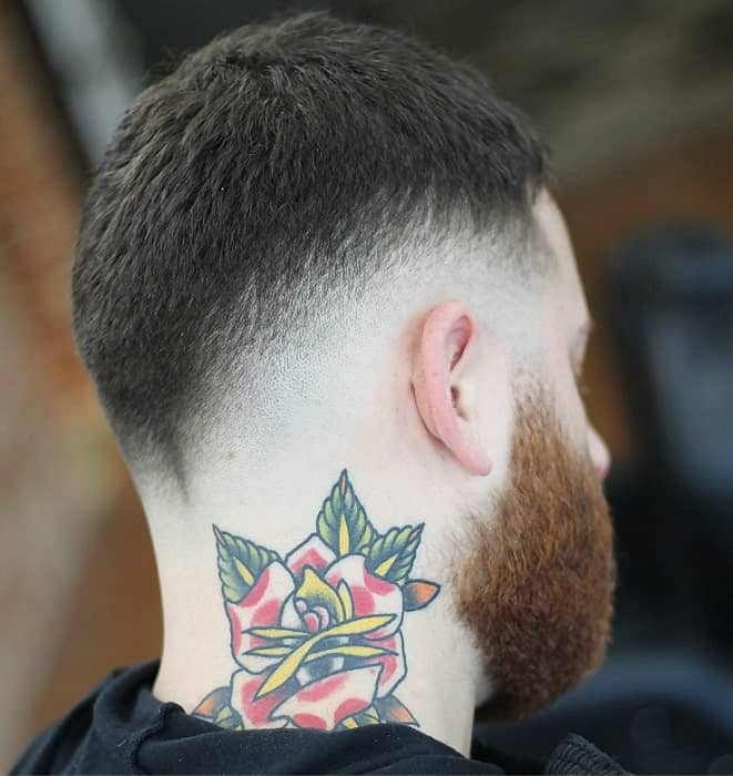 Short and Thick Hair with Low Fade