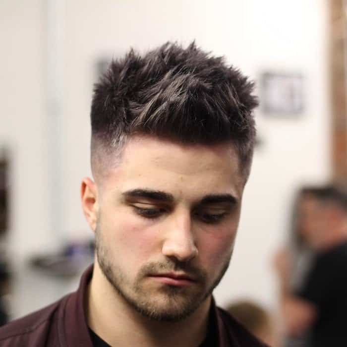 men's short haircuts with mid fade for thin hair