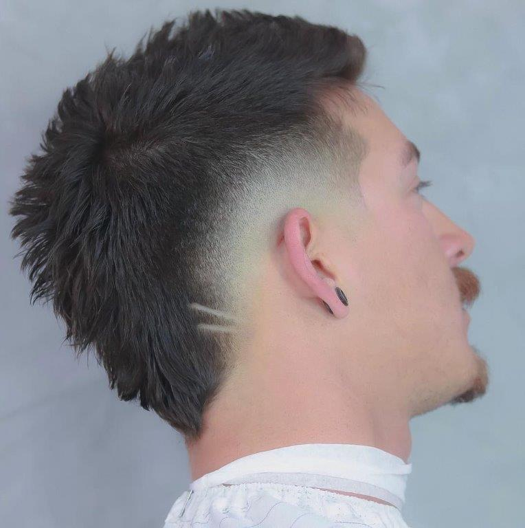Short Mohawk with Low Fade