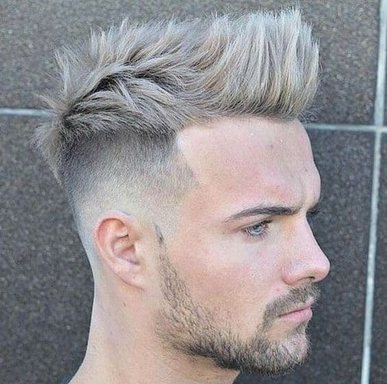 short mohawk haircut with fade