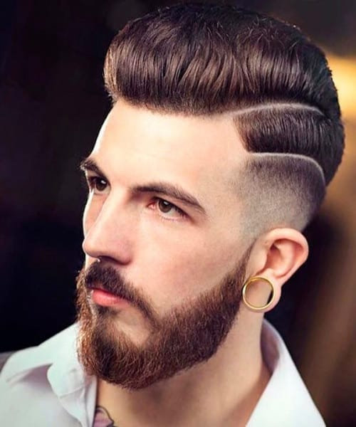 short mohawk with pompadour