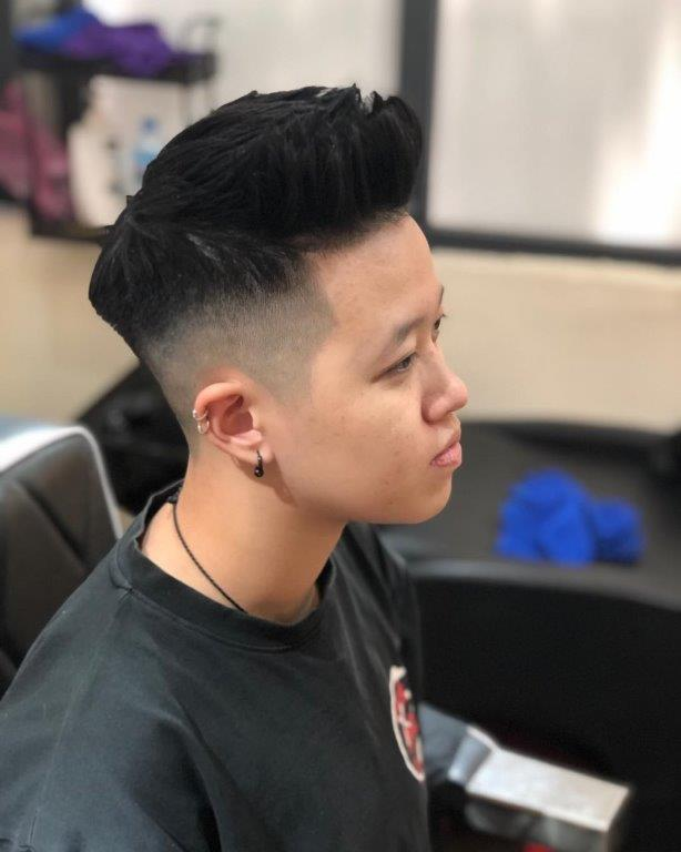Short Quiff with Tapered Sides