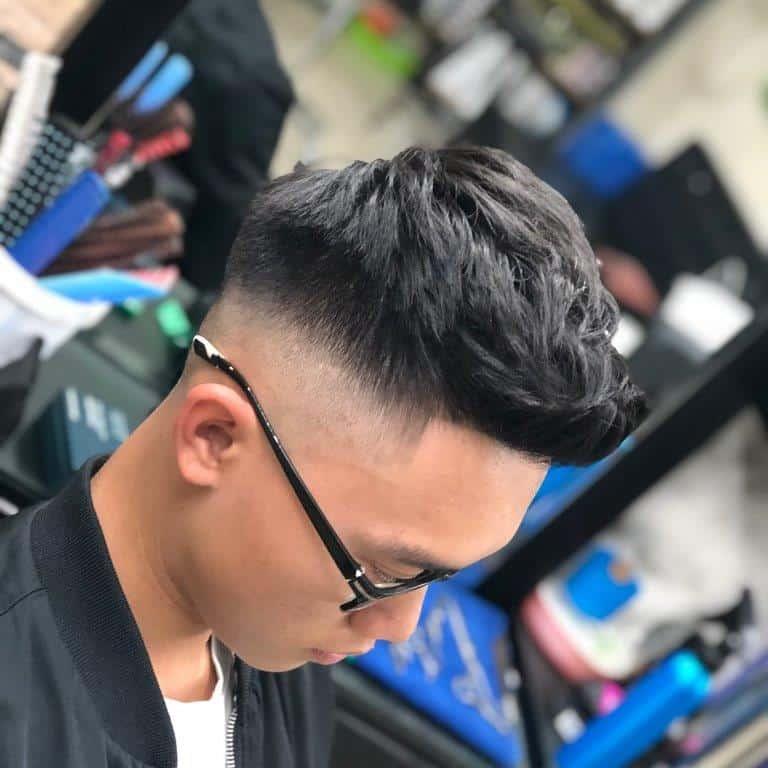 Asymmetrical Short Quiff Hairstyle