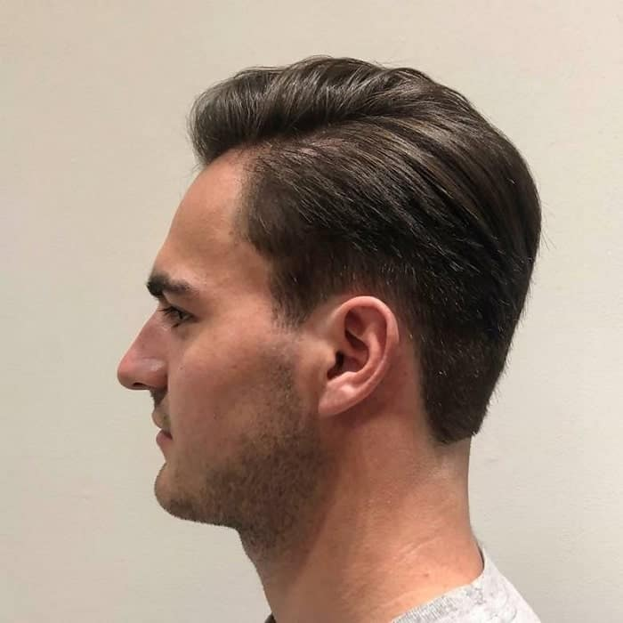 long tapered side part undercut
