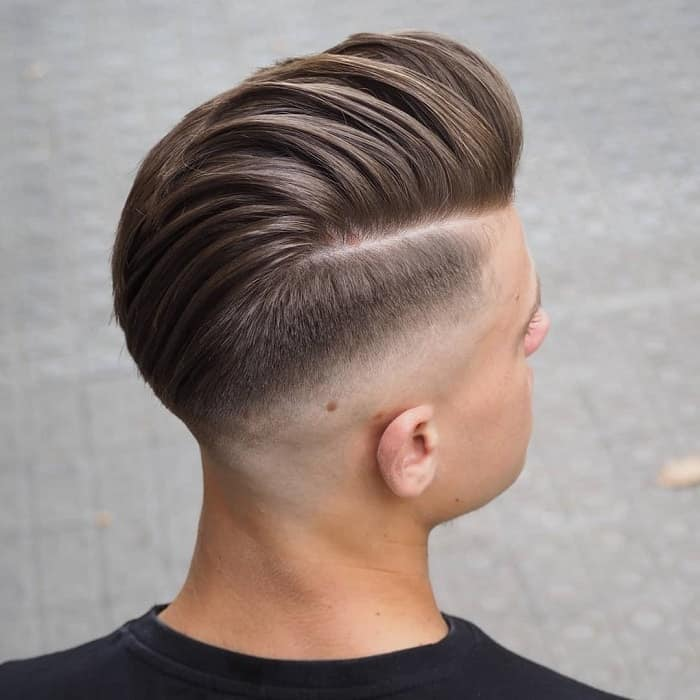 tapered side swept with undercut