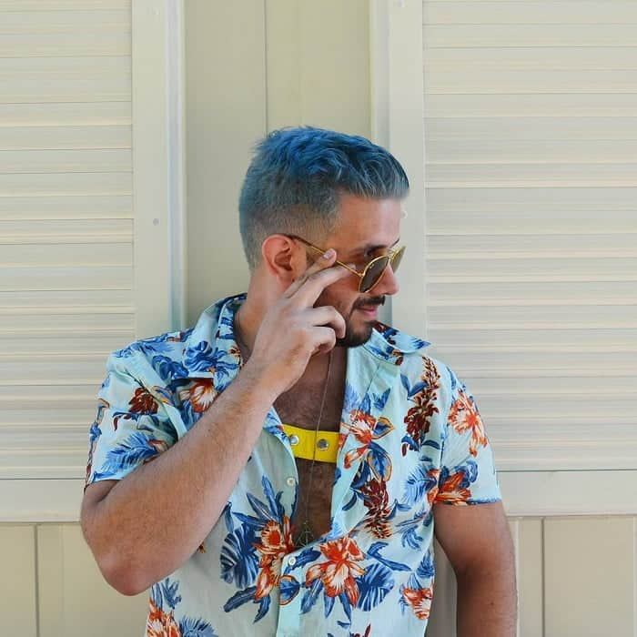 Silver Blue Hair For Guys
