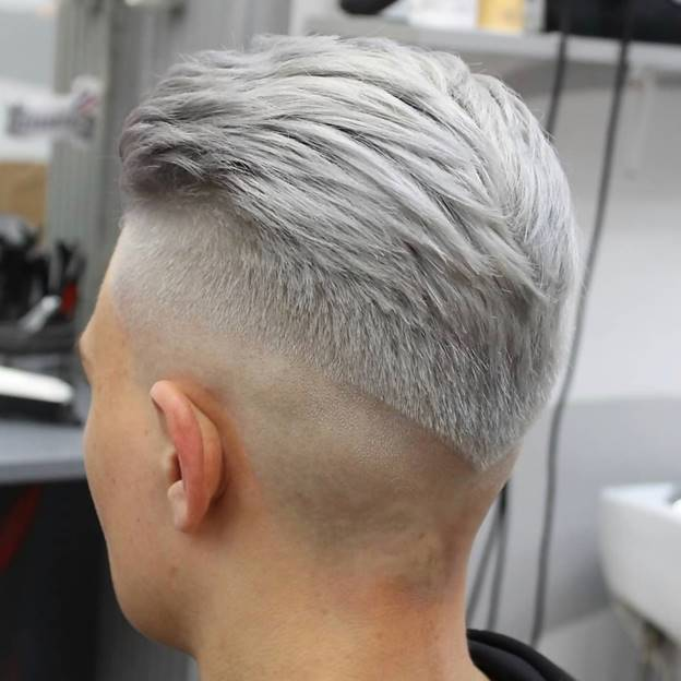 medium silver hairstyles for men
