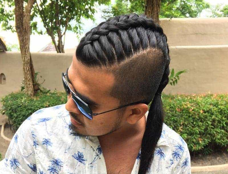 single braid hairstyle for men