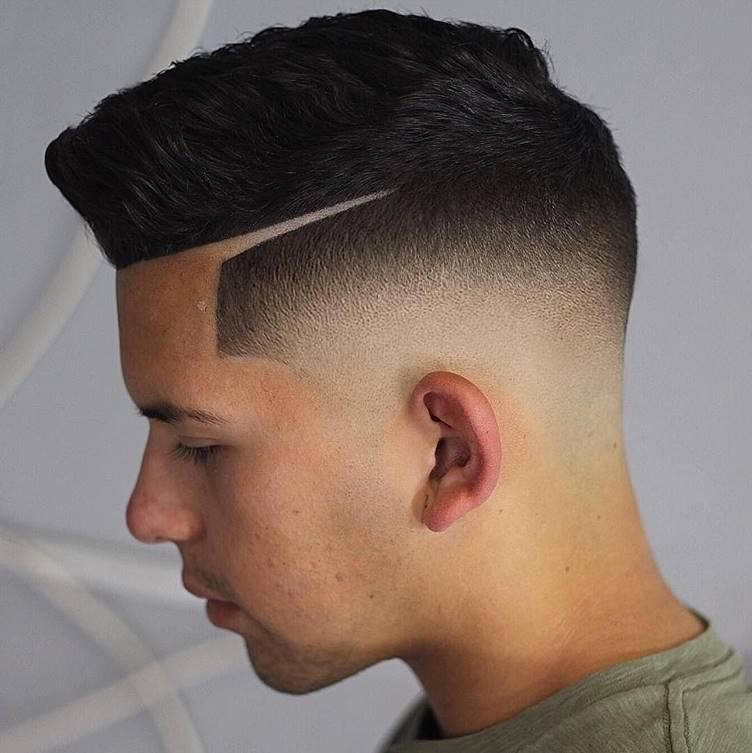 skin fade comb over