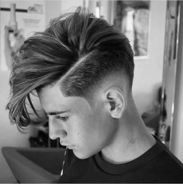 Long Comb Over with Low Skin Fade