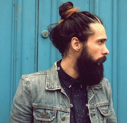 dyed slick back bun for men