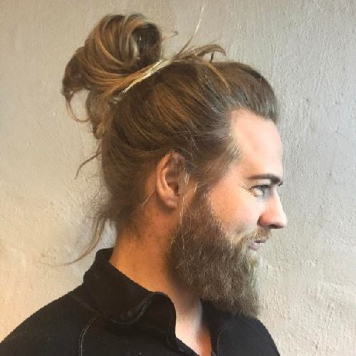 slick back bun for long hair