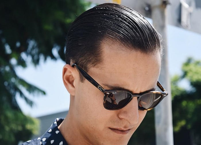Slick Back Dapper Hairstyle