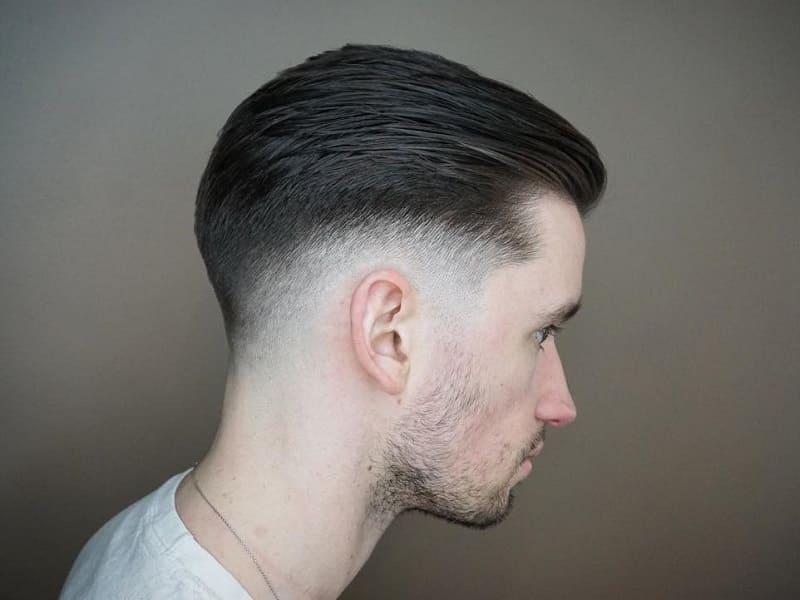 slick back low fade hair
