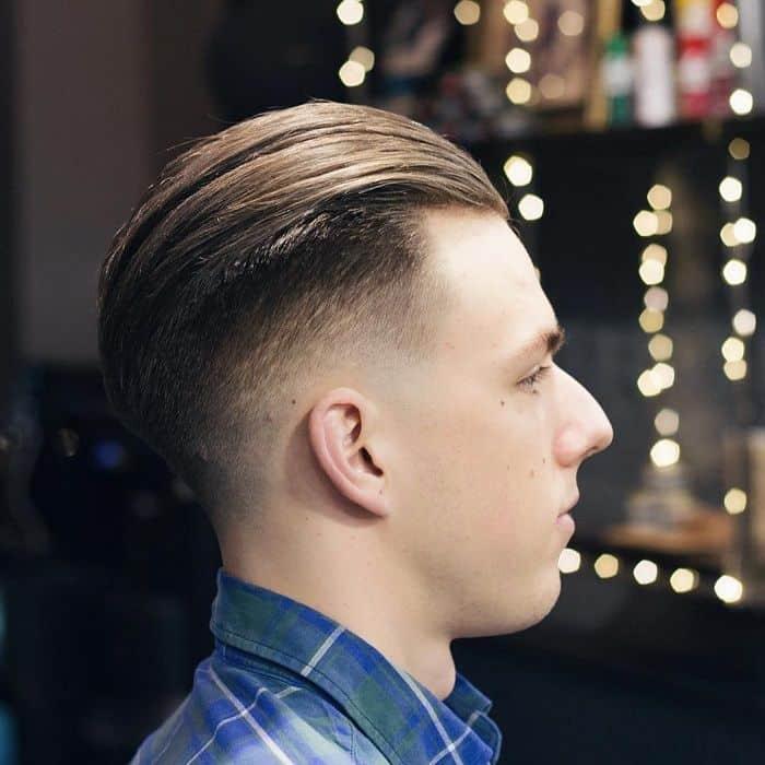 slick back fade hair