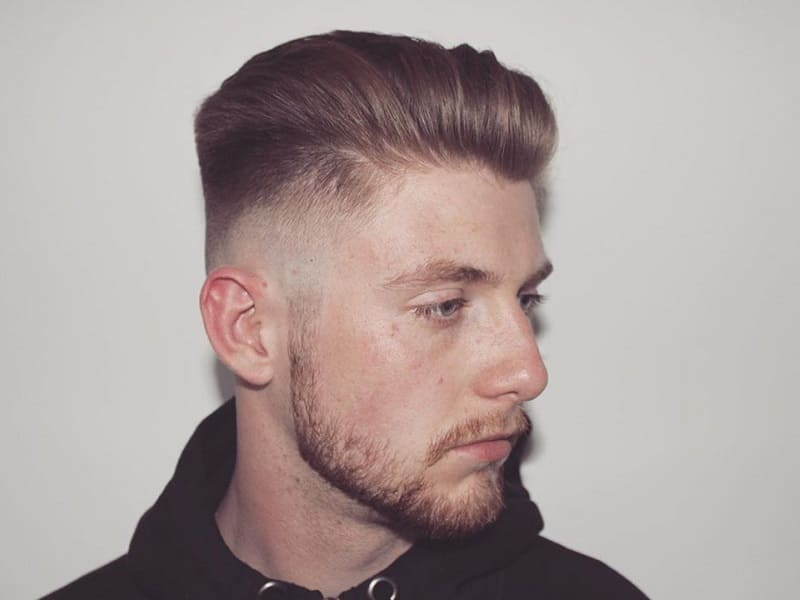 voluminous slick back fade hair