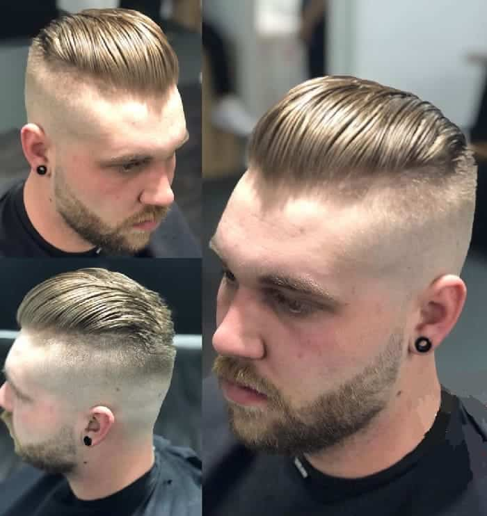 skin fade slick back hair