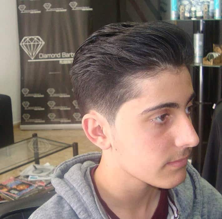 slick back hairstyle for long haired men