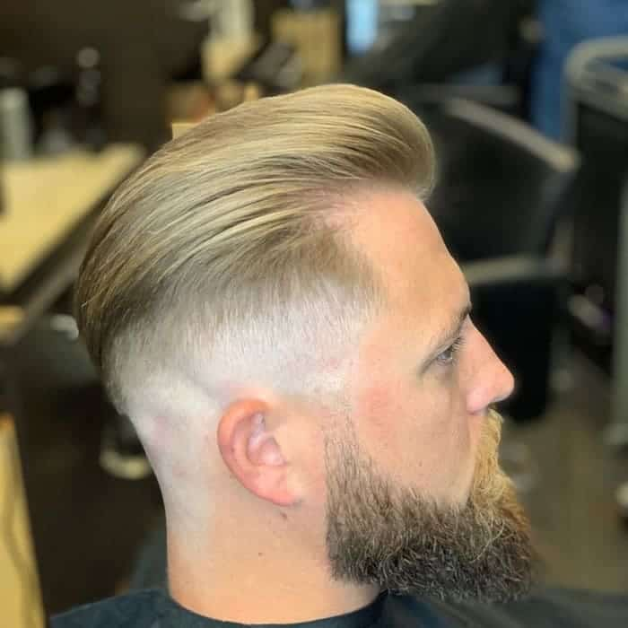 slick back hair with fade